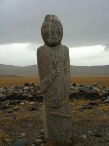 Turkic standing stone man