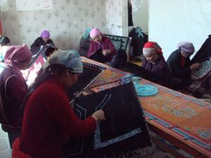 group sewing